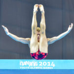 Nanjing, Jiangsu, China - Tuesday August 26, 2014: Photo Diving 10m platform prelim. - Timo BARTHEL (GER) - the Youth Olympic Games in Nanjing China.  Christel Saneh/IOC Young Reporters  #Nanjing2014 #youtholympics #yog #youngreporters